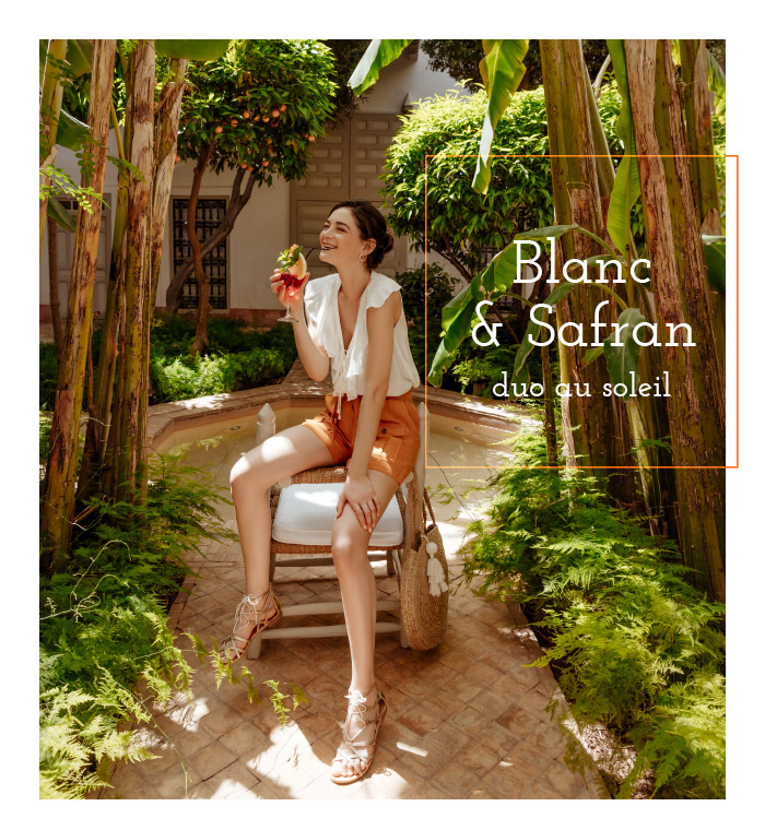 Blanc & Safran - duo au soleil